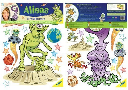 FunToSee Aliens and Outer Space Boys Nursery and Bedroom Wall Decals, Alien (Discontinued by Manufacturer)
