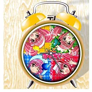 Shugo Chara Anime Colorful Design Twin Bell Alarm Clock, Yellow