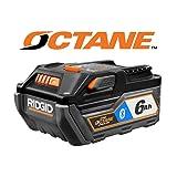 Ridgid 18V Bluetooth 6.0Ah HYPER OCTANE Battery Pack, AC8400806 (Renewed) (Color: blue)