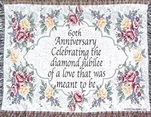 Wedding Anniversary Gifts Online Usa : Wedding Anniversary Sofa Throw60th Anniversary GiftMade in USA ...