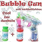 Pistola de Burbujas de Jabón Máquina con Efectos de Luz