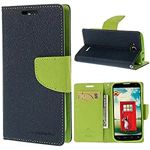 CHL Imported Mercury Fancy Wallet Dairy Flip Case Cover for Micromax Canvas Fire 4 A107