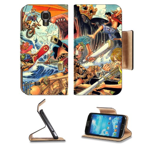 One Piece Group Collection Samsung Galaxy S4 Flip Cover Case With Card Holder Customized Made To Order Support Ready Premium Deluxe Pu Leather 5 Inch (140Mm) X 3 1/4 Inch (80Mm) X 9/16 Inch (14Mm) Liil S Iv S 4 Professional Cases Accessories Open Camera H