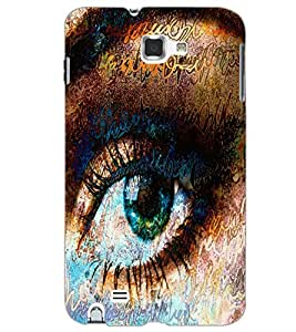 SAMSUNG GALAXY NOTE 2 EYE Back Cover by PRINTSWAG