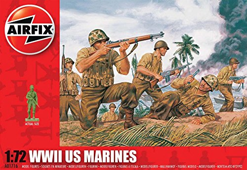 Airfix A01716 1:72 Scale WWII US Marines Figures Classic Kit Series 1 - 1