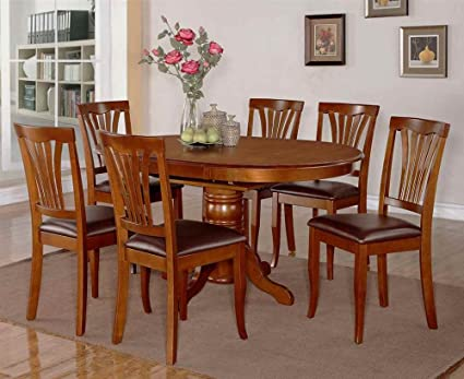 7-Pc Upholstered Dining Set