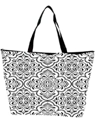Snoogg Abstract Amazed Pattern Designer Waterproof Bag Made Of High Strength Nylon
