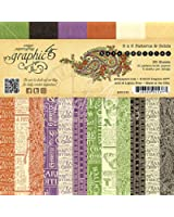 Graphic 45 6 x 6-Inch Rare Oddities Patterns and Solid Paper Pad, Multi-Colour