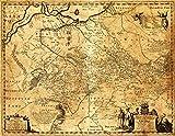 Ukraine - Panoramic Map (16x24 Giclee Gallery Print, Wall Decor Travel Poster)