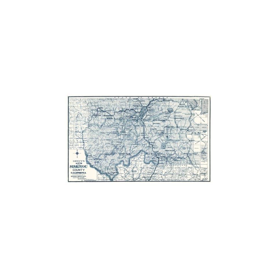 Siskiyou County California Ca Map 1905 On Popscreen