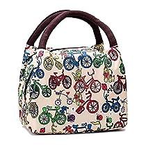 Cute Colorful Nylon Zipper Portable Cosmetic Lunch Picnic Handbag Bag , Circle