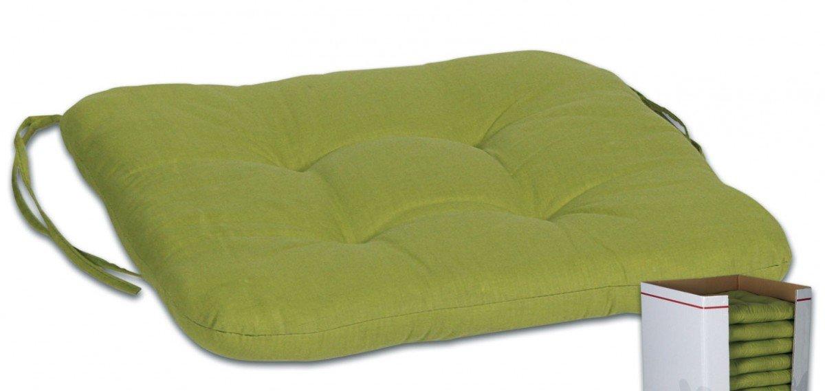 Sitzkissen, Sitzauflage, Gartenstuhlauflage, Sesselauflage, grün, 45 x 45 x 7 cm günstig