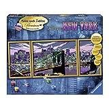 """Ravensburger 28951 - Skyline von New York - Malen nach Zahlen Premium Triptychon, 100 x 40 cmvon """"Ravensburger"""""""