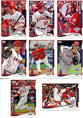 2014 Topps Los Angeles Angels of Anaheim Opening Day Series MLB Baseball 8 Card Team Set with Mike Trout, Albert Pujols Plus