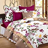Story@Home Cotton Floral 100% Cotton Double Bedsheet With 2 Pillow Covers , Multicolor