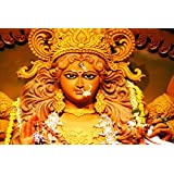 Paper Plane Design High Quality Maa Durga Posters Super Fast Shiping(18 X 12 ) Inch.Delivered In Free Re-usable...