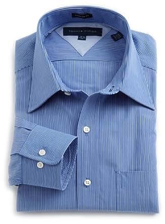 Tommy Hilfiger Men's Ground White Stripe, Blue, 16 32-33