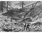 Photographic Print of Prospectors Making Claim In Gold Rush
