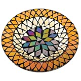 Harvest Mosaic Glass Decorative Candle Plate
