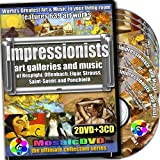 Impressionists Art Galleries and Music of the Time, 2DVDs+3CDs set, Art by Van Gogh, Cezanne, Renoir, Gauguin, Seurat, Degas and Music by Respighi, Offenbach, Ponchielli, Saint-Saëns, Strauss