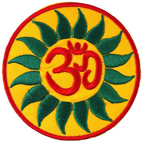 Aum Om Yoga Hindu Infinity Embroidered Iron on Patch # C