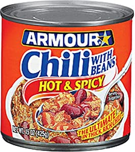 Armour Hot And Spicy Chili With Beans 15-ounce Pack Of 12 by Armour