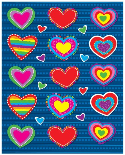 Carson Dellosa Hearts Shape Stickers (168036)