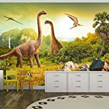 walltastic papier peint mural dinosaure 2 4 x 3 m amazon. Black Bedroom Furniture Sets. Home Design Ideas