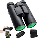 ToyerBee Binoculars for Adults&Kids, 12X42 HD Roof Prism Folding Binoculars, Waterproof Binocular Weak Light Night Vision for Bird Watching Concert Tr