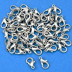 1 X 60 Lobster Clasps Nickel Plated Jewelry Beading 11.5mm