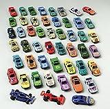 50 PC Race Car Set - Metal Plastic Die Cast Cars