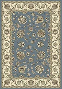 101163 - 2' x 3'11 Rug Depot Traditional Area Rug - Ancient Garden Collection - Light Blue Background - Dynamic Ancient Garden 57365-5464 - Machine-Made of 100% Polypropelene Fibers - 1 Million Point Density - T-7 Quality Rating - Area Rugs with Matching Stair Runners, Stair Treads, Hall Runners, Oval Rugs and Round Rugs