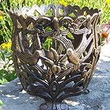 Oakland Living Hummingbird Round Flower Pot 12-Inch Antique Bronze