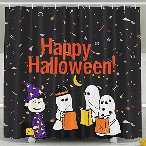 [BVBOO Happy Halloween Shower Curtain] (Austin Tx Halloween Costumes)