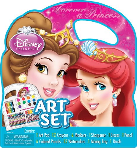 Artistic Studios Disney Princess Belle and Ariel Art Set