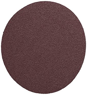 "3M PSA Cloth Disc 348D, X Weight Cloth, PSA Attachment, Aluminum Oxide, 5"" Diameter, 36 Grit, Brown (Pack of 50)"