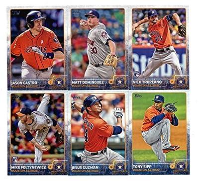 2015 Topps Baseball Cards Houston Astros Team Set (Series 1- 10 Cards) Including Nick Tropeano, Tony Sipp, Jason Castro, Matt Dominguez, Mike Foltynewicz, Jesus Guzman, Chris Carter, Alex Presley, George Springer, Dexter Fowler
