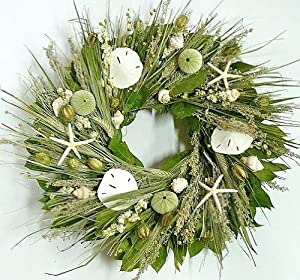 "Coastal Wreath - 22"" Ocean's Bounty Natural Starfish Wreath"