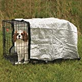 ProSelect Solar Crate Canopies  -  Protective Coverings for Dog Crates - 6' x 6', Silver