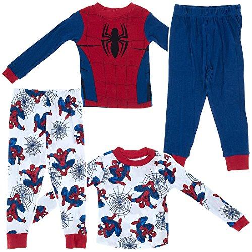 Marvel Comics Big Boys' Spider-man Set of 2 Cotton Pajama Set