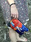 Large-Vegan-Wristlet-Pencil-Bag-Cosmetic-Bag-with-Charm-From-My-Original-Paintings-Support-Wildlife-Conservation-Read-How
