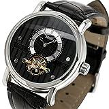 ESS Tourbillon Black Leather Automatic Mechanical Mens Wrist Watch WM356
