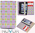 Slim Phone Cover Case With Wallet *Ty-vek* Colorful Star Burst May Fit Nok ia Asha 502 Dual Sim + NuVur ™ k eychain |ESAMTVP2|
