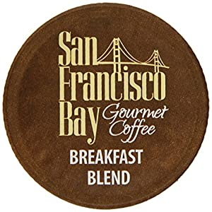 San Francisco Bay Coffee, Breakfast Blend, 80 OneCup Single Serve Cups (Pack of 2) from San Francisco Bay Coffee