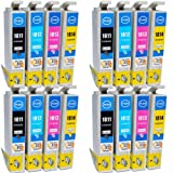 Compatible Epson Expression XP-205 Ink Cartridges 4X Black 4X Cyan 4X Magenta 4X Yellow (16-Pack)