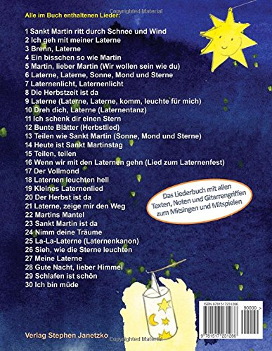Die 30 schönsten Laternenlieder: Das Liederbuch mit allen Texten, Noten und Gitarrengriffen zum Mitsingen und Mitspielen