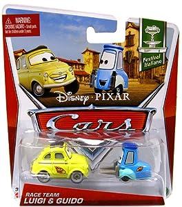 Disney Pixar Cars Race Team Luigi and Guido 1:55 scale: Toys & Games