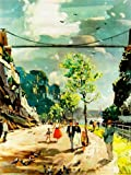 PAINTING CLIFTON SUSPENSION BRIDGE BRISTOL ENGLAND UK BRUNEL 30X40 CMS FINE ART PRINT ART POSTER BB8402