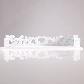 holz wandregal von xtradefactory wand regal weiss 61cm. Black Bedroom Furniture Sets. Home Design Ideas