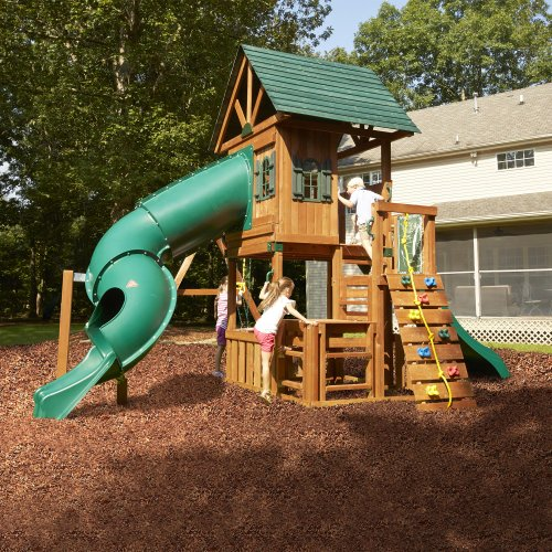 Custom Backyard Playsets : Wood Swing Set Kit Outdoor Custom Complete Kids Wooden Build Swingset